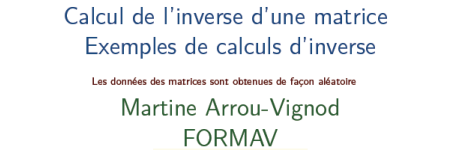 inverse matrice